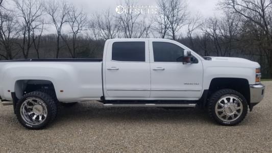 "2018 Chevrolet Silverado 3500 HD - 22x8.5 -185mm - DDC The Ten - Leveling Kit - 33"" x 12.5"""