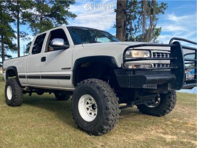 """2000 Chevrolet Silverado 1500 - 16x8 13mm - Cragar 310 - Suspension Lift 6"""" & Body 3"""" - 38"""" x 16.5"""""""