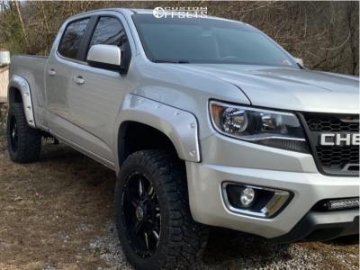 "2018 Chevrolet Colorado - 20x9 0mm - Anthem Off-Road Equalizer - Suspension Lift 2.5"" - 275/55R20"