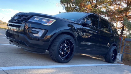 2017 Ford Explorer - 20x10 -24mm - Dropstars 655bm - Stock Suspension - 275/45R20