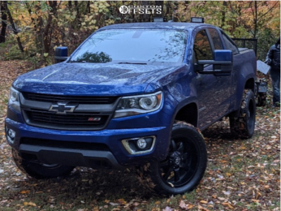 """2016 Chevrolet Colorado - 20x9 -12mm - Panther Offroad 810 - Suspension Lift 3"""" - 275/55R20"""