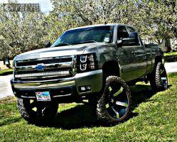 "2008 Chevrolet Silverado 1500 - 24x12 -44mm - XD Rockstar II - Suspension Lift 8"" - 38"" x 13.5"""