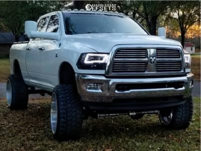 "2010 Dodge Ram 2500 - 24x14 -76mm - Fuel Forged Ff03 - Suspension Lift 10"" - 35"" x 13.5"""