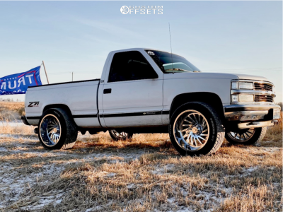 "1995 Chevrolet K1500 - 22x12 -51mm - ARKON OFF-ROAD Caesar - Level 2"" Drop Rear - 305/45R22"