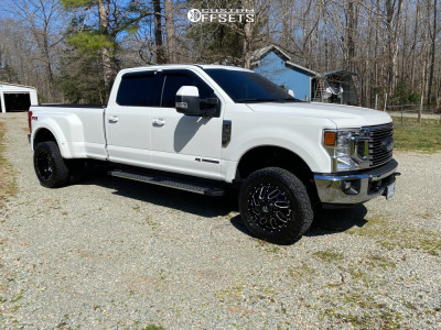 2020 Ford F-350 Super Duty Dually - 20x8.5 105mm - Fuel Triton D581 - Leveling Kit - 275/60R20