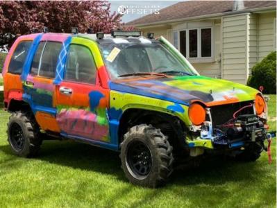 "2007 Jeep Liberty - 16x8 0mm - Vision D Window - Stock Suspension - 30"" x 8.5"""