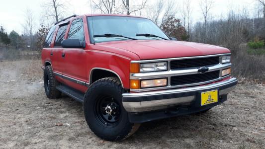 1997 Chevrolet Tahoe - 16x8 -12mm - Vision Soft 8 - Stock Suspension - 285/75R16