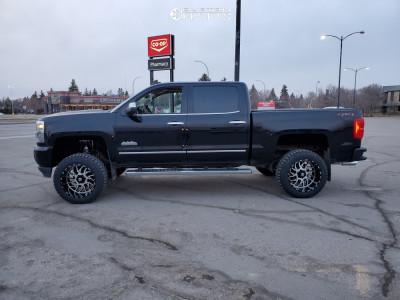 """2018 Chevrolet Silverado 1500 - 20x12 -44mm - TIS 544mb - Suspension Lift 6"""" - 33"""" x 12.5"""""""