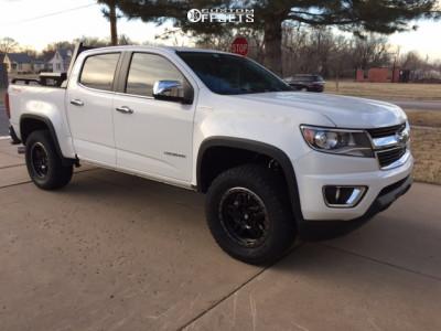 """2016 Chevrolet Colorado - 18x9 20mm - Fuel Anza - Suspension Lift 3"""" - 285/60R18"""