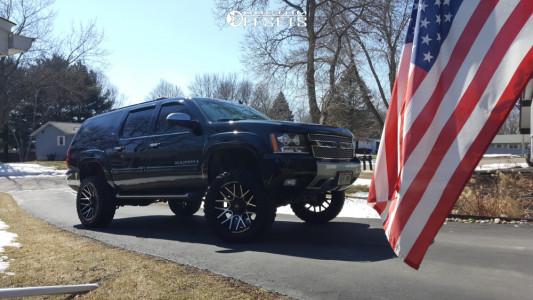 """2007 Chevrolet Suburban 1500 - 22x12 -44mm - Dropstar 654mb - Suspension Lift 7.5"""" - 35"""" x 12.5"""""""