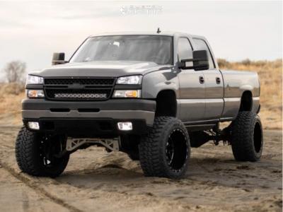 """2007 Chevrolet Silverado 2500 HD Classic - 22x14 -74mm - TIS 544bm - Suspension Lift 10"""" - 37"""" x 13.5"""""""