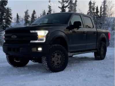 """2019 Ford F-150 - 20x9 18mm - Fifteen52 Turbomac - Suspension Lift 4"""" - 35"""" x 12.5"""""""