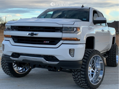 "2016 Chevrolet Silverado 1500 - 24x14 -76mm - Hostile Sprocket - Suspension Lift 7.5"" - 35"" x 15.5"""