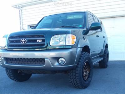 """2004 Toyota Sequoia - 17x9 -12mm - Fuel Ammo - Suspension Lift 3"""" - 285/70R17"""