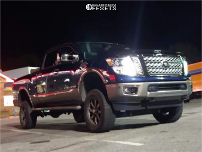 "2018 Nissan Titan XD - 20x9 0mm - XD Buck - Suspension Lift 6"" - 275/60R20"