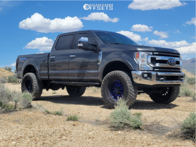 """2020 Ford F-250 Super Duty - 20x10 -24mm - American Offroad A105 - Leveling Kit - 37"""" x 13.5"""""""