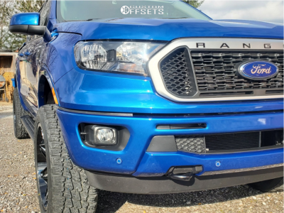 2019 Ford Ranger - 20x9.5 15mm - Axe Offroad Artemis - Leveling Kit - 265/50R20