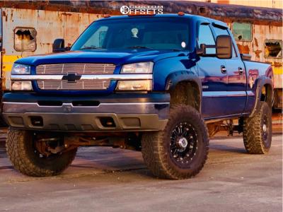"2003 Chevrolet Silverado 1500 HD - 17x9 -6mm - XD Xd795 - Suspension Lift 6"" - 35"" x 12.5"""