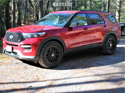 "2020 Ford Explorer - 20x9 0mm - Anthem Off-Road Avenger - Stock Suspension - 33"" x 12.5"""