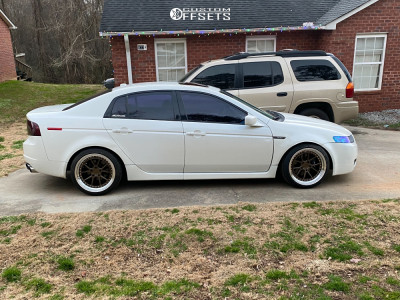 2005 Acura TL - 18x9.5 30mm - Aodhan Ds08 - Coilovers - 225/40R18