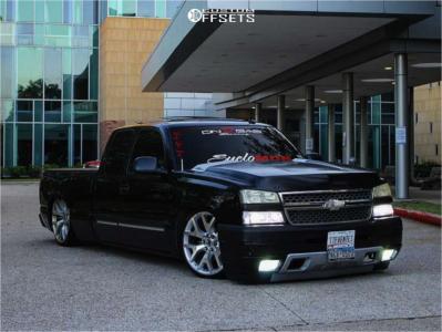 2003 Chevrolet Silverado 1500 - 22x9 28mm - Oe Performance 169 - Lowered 6+F / 8+R - 265/30R22