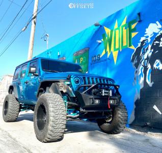 "2020 Jeep Wrangler - 20x12 -44mm - Anthem Off-Road Equalizer - Suspension Lift 6"" - 38"" x 13.5"""
