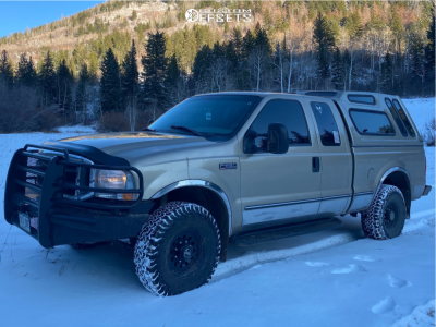 """2000 Ford F-250 Super Duty - 16x10 -24mm - American Racing Outlaw Ii - Stock Suspension - 33"""" x 12.5"""""""