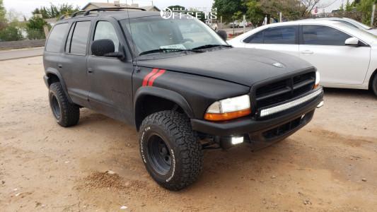 "1999 Dodge Durango - 15x10 -38mm - Black Rock 997 - Leveling Kit - 31"" x 10.5"""
