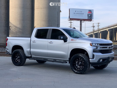 2019 Chevrolet Silverado 1500 - 22x10 -18mm - Fuel Sledge - Stock Suspension - 285/55R22