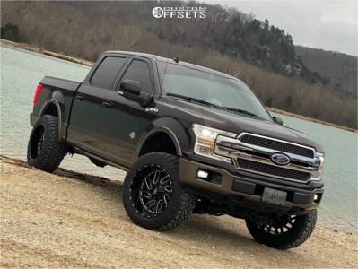 "2020 Ford F-150 - 22x12 -44mm - Fuel Triton - Suspension Lift 4"" - 35"" x 12.5"""
