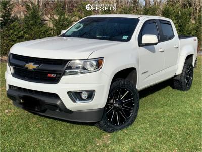 2019 Chevrolet Colorado - 20x9 19mm - Fuel Contra - Leveling Kit - 275/55R20