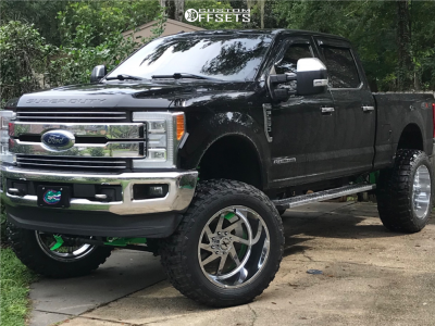 """2019 Ford F-250 - 24x14 -76mm - Xtreme Force Xf6 - Suspension Lift 8"""" - 40"""" x 15.5"""""""
