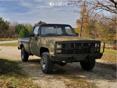 1986 Chevrolet K30 - 16x8 0mm - Mickey Thompson Classic Baja Lock - Stock Suspension - 265/75R16