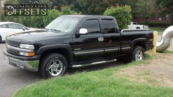 2000 Chevrolet Silverado 1500 - 16x8 0mm - American Racing Nitro - Stock Suspension - 265/75R16