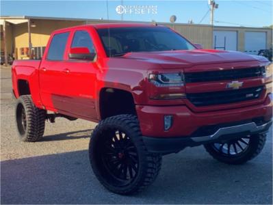 "2017 Chevrolet Silverado 1500 - 26x12 -44mm - Tis 547bm - Suspension Lift 8"" - 37"" x 12.5"""
