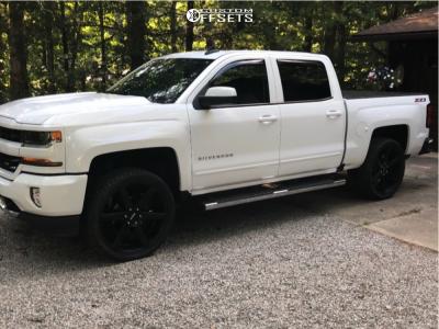 2016 Chevrolet 1500 - 24x9 30mm - KMC Km704 - Leveling Kit - 305/35R24