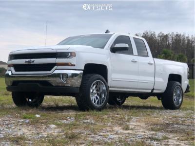 "2016 Chevrolet 1500 - 20x12 -44mm - American Truxx At162 - Stock Suspension - 33"" x 12.5"""