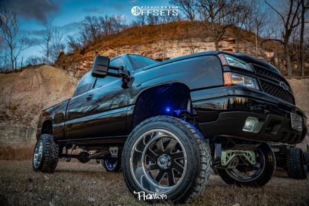 "2006 Chevrolet Silverado 1500 HD - 22x12 -51mm - Fuel Forged Ff02 - Suspension Lift 9"" - 35"" x 12.5"""