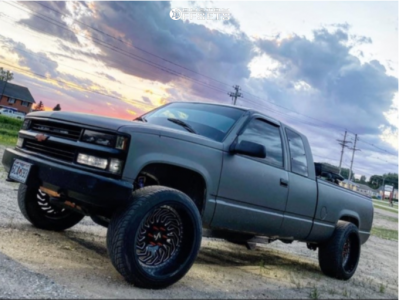 """1995 Chevrolet K1500 - 22x12 -51mm - ARKON OFF-ROAD Crown Series Victory - Leveling Kit - 33"""" x 11.5"""""""