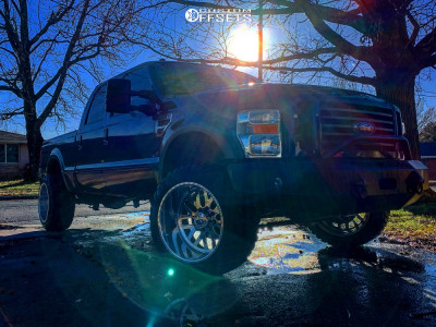 """2008 Ford F-250 Super Duty - 22x14 -76mm - American Force Wraith - Leveling Kit - 35"""" x 12.5"""""""
