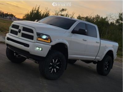 "2016 Ram 3500 - 20x10 -12mm - Fuel Maverick - Suspension Lift 6.5"" - 38"" x 13.5"""