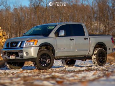 """2015 Nissan Titan - 20x10 -18mm - Anthem Off-Road Liberty - Suspension Lift 3"""" - 32"""" x 10.5"""""""