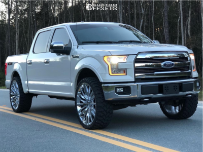 """2015 Ford F-150 - 26x10 30mm - 4Play OE Wheels Ac04 - Leveling Kit - 35"""" x 13.5"""""""