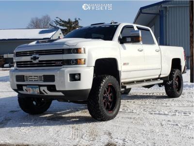 "2018 Chevrolet Silverado 3500 HD - 20x9 0mm - Moto Metal Mo970 - Suspension Lift 5"" - 35"" x 12.5"""