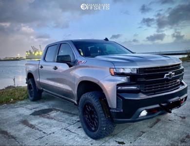 """2020 Chevrolet Silverado 1500 - 20x9.5 -12mm - Black Rhino Primm - Suspension Lift 3.5"""" - 33"""" x 12.5"""""""