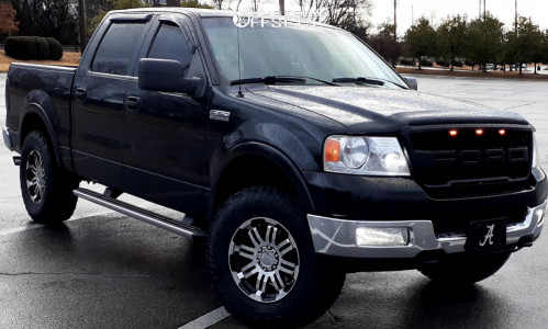 """2005 Ford F-150 - 18x9 25mm - Vision Warrior - Leveling Kit - 35"""" x 12.5"""""""