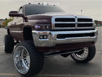 "2001 Dodge Ram 2500 - 26x16 -101mm - Liberty Forged Lbty01 - Suspension Lift 8"" - 37"" x 13.5"""