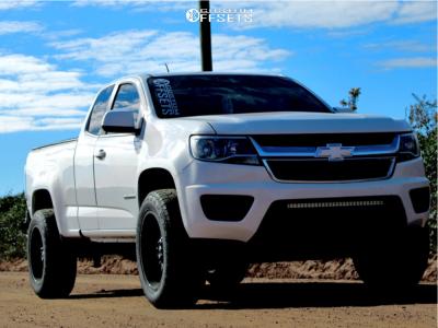 "2016 Chevrolet Colorado - 20x10 -24mm - American Offroad A105 - Suspension Lift 3"" - 33"" x 12.5"""