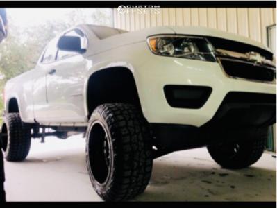 "2016 Chevrolet Colorado - 20x12 -44mm - American Offroad A105 - Suspension Lift 6"" - 33"" x 12.5"""