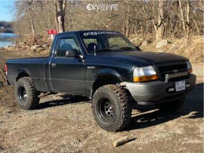 "1999 Ford Ranger - 15x10 -44mm - Pro Comp 51 - Suspension Lift 4"" - 31"" x 10.5"""